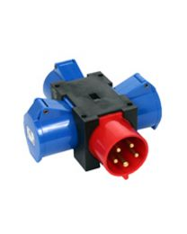 16A 415V Solid Adaptor to 3 x 16A 240V